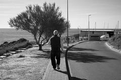 morning walk (pepe amestoy) Tags: blackandwhite streetphotography people elcampello spain fujifilm xe1 voigtländer color skopar 2535 vm leica m mount