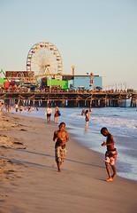 Santa Monica (Perfect Gnat) Tags: santamonica california usa santamonicapier pier beach ocean pacific pacificocean ferrywheel sand boys running outdoor sunset
