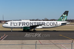 Frontier Airlines Airbus A320-214 - N221FR (AeroPX) Tags: aeropx airbusa320 bugsythetreefrog caryliao ewing frontierairlines kttn n221fr nj newjersey ttn trentonmercercountyairport