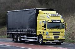 Caledonian Logistics Daf Cf 6 wheeler curtain. (RScania) Tags: daf cf truck curtain 6wheeler