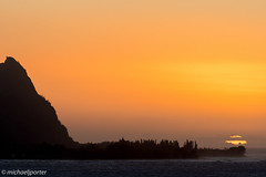 Sunset from Pali Ke Kua (Michael J Porter) Tags: bird birds hawaii kauai kilauea lighthouse nature outdoor princeville sky sunset wildlife