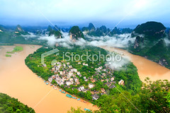 Sunrise-of-lijiang-river (MPBHAIBO) Tags: china cloud mist mountain reflection tree water fog forest sunrise landscape dawn liriver spring shiny asia village guilin yangshuo hill aerialview  backlit     sunbeam cloudscape lijiang ricepaddy scenics mountainrange  vibrantcolor brightlylit   urbanscene xingping mountainpeak ruralscene   karstformation  guangxiregion
