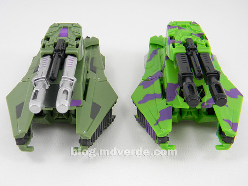 Transformers Brawl Deluxe - G2 Fall of Cybertron - modo alterno vs SDCC