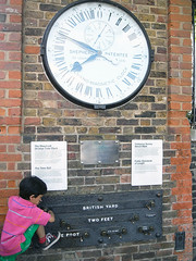 The Shepherd gate 24-hour clock and standard lengths @ Greenwich (everydaylife.style) Tags: