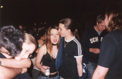 LSE Afterschool (Gary Kinsman) Tags: 2003 film students youth club night drunk fun hug university candid flash group young aldwych late lse afterschool thequad wc2 londonschoolofeconomics lseafterschool