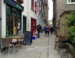 Street in Cambridge (Arkensiel Photographs) Tags: street trees cambridge people cafe chairs unitedkingdom tables