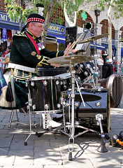 SCOTS Band in Gibraltar - Drum Kit (tony.evans) Tags: summer camp music drums scotland europe mediterranean live military pipes band trumpet flute trombone horn gibraltar ta saxophone oboe scots euphonium clarinets casemates regiment cornet territorialarmy scotsband musiciansscotsband