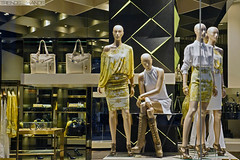 Versace Collection (Lorenzo Imperatori) Tags: windows winter milan fashion shopping design shoes mannequins dress b