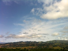 view from my sister's living room (LOLO Italiana) Tags: ca nature landscape rollinghills bucolic carmelvalley santaluciamountains cloudyskies iphoneimage