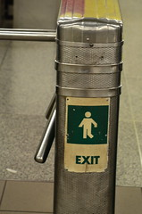 EXIT ~ his last one ~ (shireye) Tags: toronto ontario nikon sad ttc exit donny heartattack yongebloor torontotransitcommission tooyoung blooryorkville d7000 fellowoperator