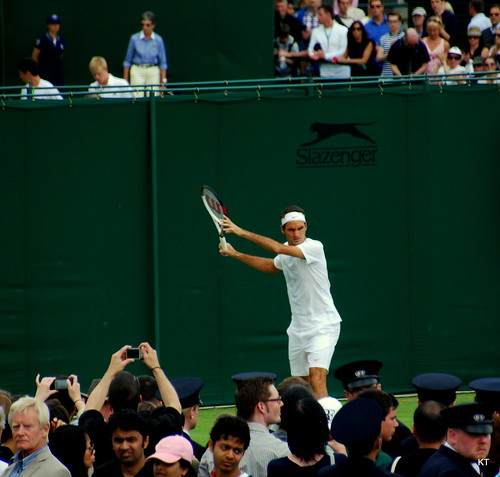 Jamie Baker - Federer practice