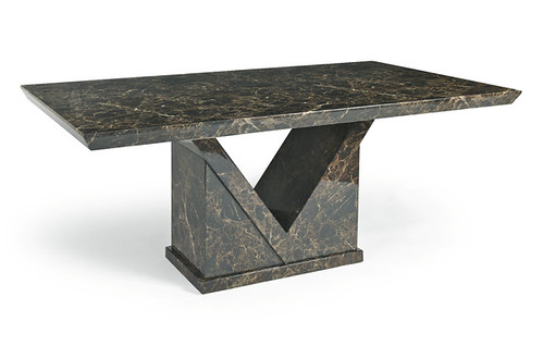 Mocha Marble Dining Table