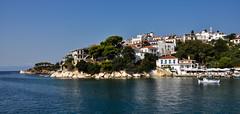 Skiathos (charalambosp) Tags: old summer water port island greek boat holidays greece skiahtos