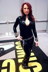 Black widow (NumberNi9e) Tags: sexy cosplay hero comicbook spy superhero shield blackwidow cleavage marvel comiccon avengers catsuit