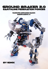 Ground braker without blaster weapon. (-Konix-) Tags: sf robot lego orion mecha moc hardsuit conflit