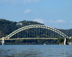 West End Bridge over the Ohio River, Pittsburgh, Pennsylvania (jag9889) Tags: bridge 1932 river pittsburgh arch crossing pennsylvania steel pa kayaking transportation northside paddling westend ohioriver waterway truss bowstring westendbridge us19 alleghenycounty 2013 jag9889 k864 westendnorthsidebridge
