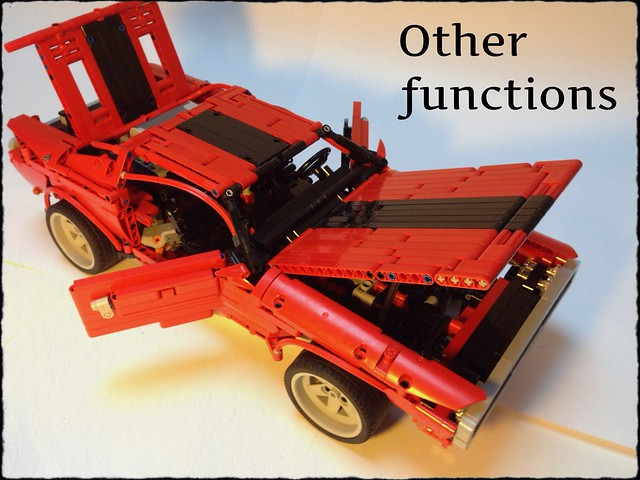 car lego technic dodge challenger musclecar moc