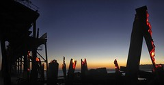 Embers (pominoz) Tags: sunrise fire pier jetty burn wharf nsw remains bushfire catho catherinehillbay
