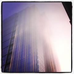 Crazy weird fog in Seattle (chavala) Tags: seattle fog architecture instagram