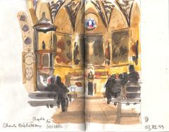 131103 chapelle de Guiddal (Vincent Desplanche) Tags: watercolor sketch concert aquarelle chapel sketchbook medieval songs chapelle neocolor croquis