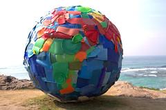 Plastic world (2009) - Carole Purnelle & Nuno Maya Portugal (Val in Sydney) Tags: world sea sculpture portugal by maya sydney australia plastic nsw carole 2009 nuno australie sxsbondi 2013 purnelle