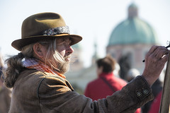 Prague People 14 (icypics) Tags: portrait artist prague drawing candid streetphotography czechrepublic