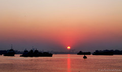 Divine Blessing...Winter Sunsets (sandy_photo) Tags: bridge sunset india west sunrise river james colonial bank holy second sir kolkata bengal calcutta ganga ganges riverway ghat hooghly riverscape prinsep