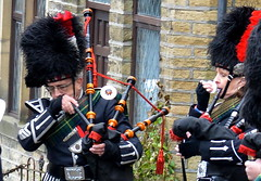 Pipers with a Cold (Dave Brotherton Wildlife Photography) Tags: soldier nikon uniform bagpipes pipers haworth d3200 haworthsteampunkweekend