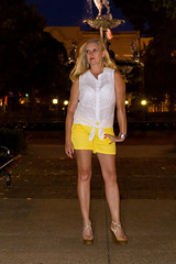 Yellow072713_6858 (WindJammer Photo) Tags: park smile yellow night canon 2470mml downtown highheel platform july wife heel shorts datenight 2013 60d