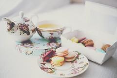 Macarons and Tea (Amanda Mabel) Tags: home floral dessert morninglight tea sydney australia patisserie sweets newsouthwales afternoontea teaset hightea macarons macaron lifestylephotography darjeelingtea royalalbertchina amandamabel amandamabelphotography