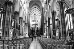 Interior - Cathedrale Notre-Dame de la Treille (adamatkins85) Tags: blackandwhite france cathedral interior notredame lille