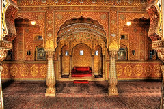 Bikaner IND - Junagarh Fort Private Audience Hall in Anoop Mahal