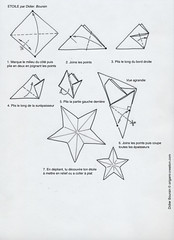 Origami création - Didier Boursin - Diagramme - L'étoile