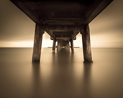 SEPIA (Scott Baldock) Tags: longexposure sea seascape art english sepia mono pier vanishingpoint kent seaside fine tunnel vision deal 16 channel stops 24105l canon6d scottbaldockphotography vision:clouds=0559 vision:sky=0634 vision:outdoor=0762