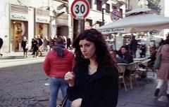 Pull straight (nuamba) Tags: street people woman color film kodak napoli ricoh kr10x nuamba