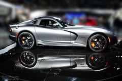 SRT Viper (scott597) Tags: auto show grey michigan north gray detroit made international american dodge 50 viper matte naias gts srt 2014