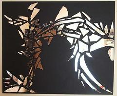 Dark (Clémence GRINCOURT de FLOGNY) Tags: black france art collage painting artist picture moderne peinture miror peintre 2014 miroirs {vision}:{text}=0508