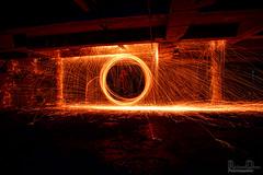 Steel Wool / Wire wool spinning (Rick Drew - 17 million views!) Tags: hot circle spiral fire wire orb spinning heat oxidation gateway sparks molten sfx steelwool wook