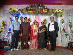 Self attending the reception of Ansuman, Babu Paikray'sn second son with school classmate Basant Sahoo & his spouse (Bhakua) Tags: babu basant namita rourkela ipsita ansuman bhakua paikray