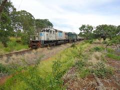 16281 BB40-2 #6502 + DDM45 #860 com trem X743 vindo de Araguari, no Km645.500 em Uberlndia MG (Johannes J. Smit) Tags: brasil vale trens vli