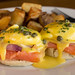 Salmon Eggs Benedict at Sidecar