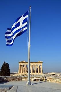 Greek Flag / Parthenon