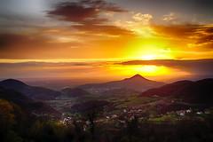 Awesome sunset (tampurio) Tags: light sunset sky italy panorama sun sunlight green colors clouds sunrise landscape italia nuvole sony hill hills cielo sole paesaggi paesaggio colline padova veneto collieuganei colli slta58