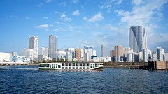 Sumida River Cruise (Jake in Japan) Tags: japan ferry buildings river tokyo boat skyscrapers sony