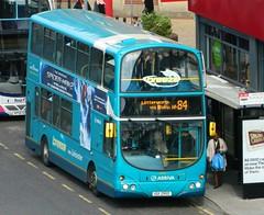 Arriva Midlands (4022) Wright Gemini - UUI 2950 (J.J.Pay 8581) Tags: bus volvo high leicester upper wright breeze gemini birdseye arial 84 uui2950