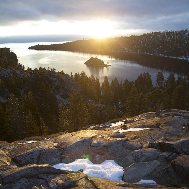 Sunrise at Emerald Bay #nofilter