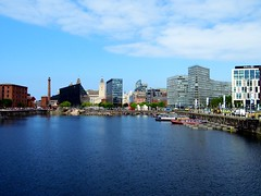 Liverpool (View of Salthouse Dock & the city skyline) (Netty 78) Tags: greatbritain england water skyline architecture liverpool buildings eu