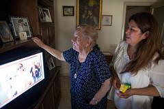 Migrant from Bolivia (Albert Gonzalez Farran) Tags: barcelona hospital spain refugee bolivia catalonia elder disabled migration migrant emigration caregiver economicalmigrant