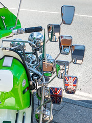Mirrors for Mods (The Image Den) Tags: reflections mirrors scooter southampton mods shirleyroad retrocafe lambrettasx200