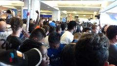 Arrival of Didier Drogba, Montreal Airport (YUL), Montreal, QC, Canada (Chaloos) Tags: football video montreal soccer impact mls drogba imfc